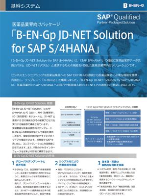 B-EN-GpJD-NET Solution for SAP S/4HANA